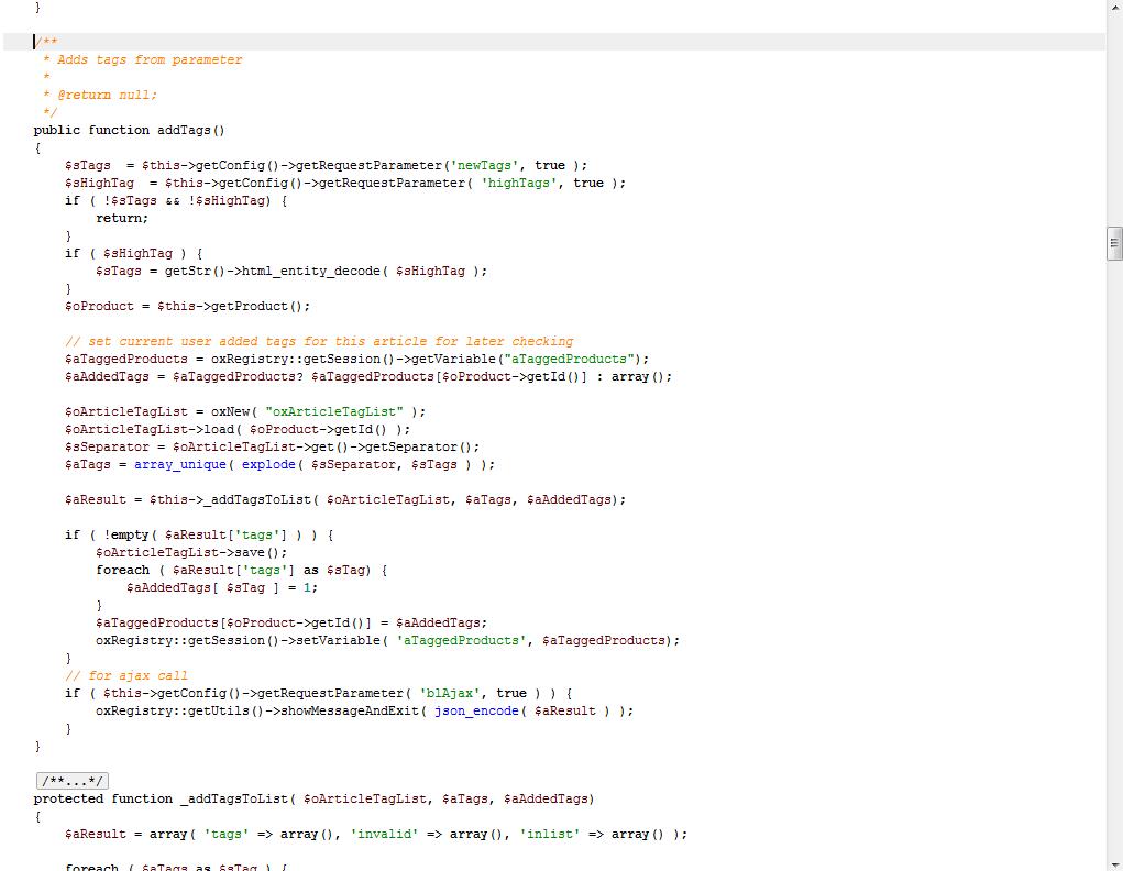 Quellcode einer OXID-Controller-Klasse